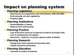 impact on planning system