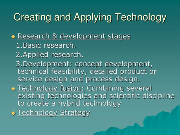 Creating and Applying Technology