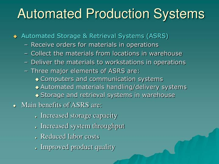 Automated Production Systems
