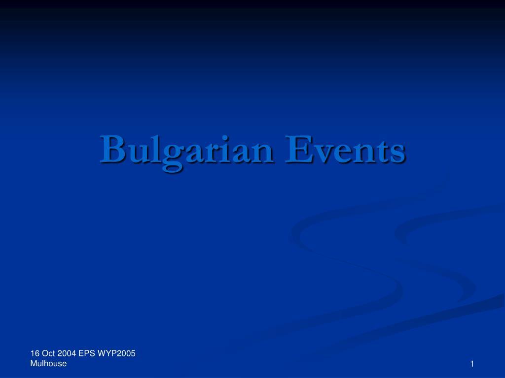 bulgarian events