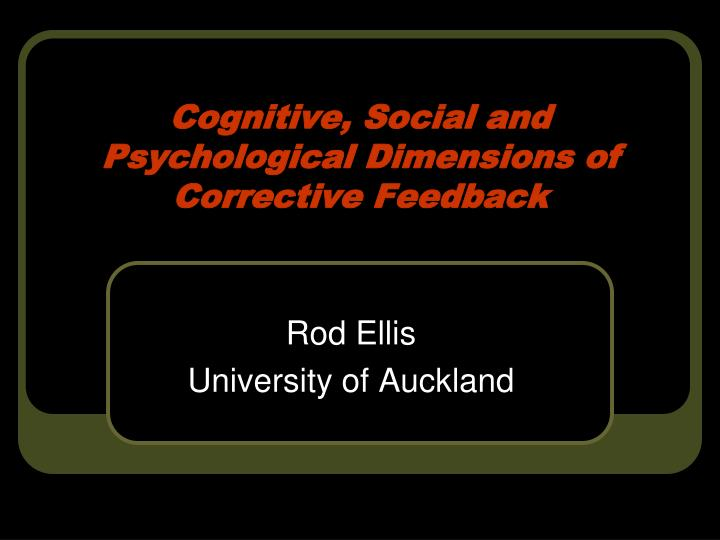 cognitive social and psychological dimensions of corrective feedback n.