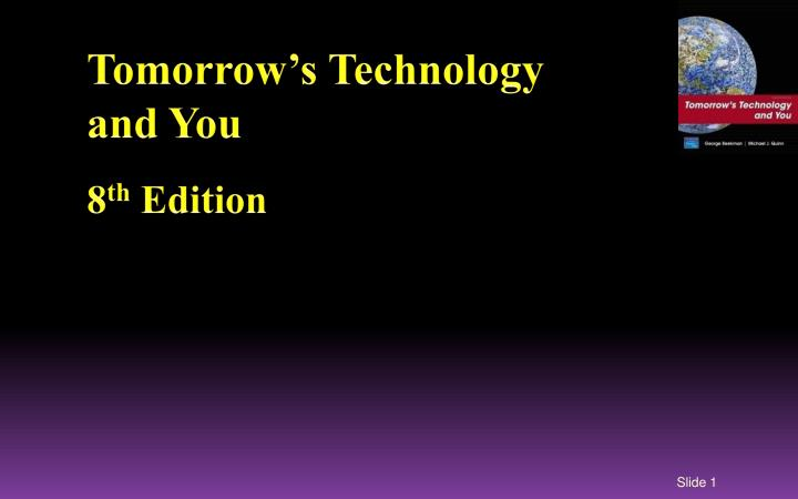 tomorrow s technology and you 8 th edition n.