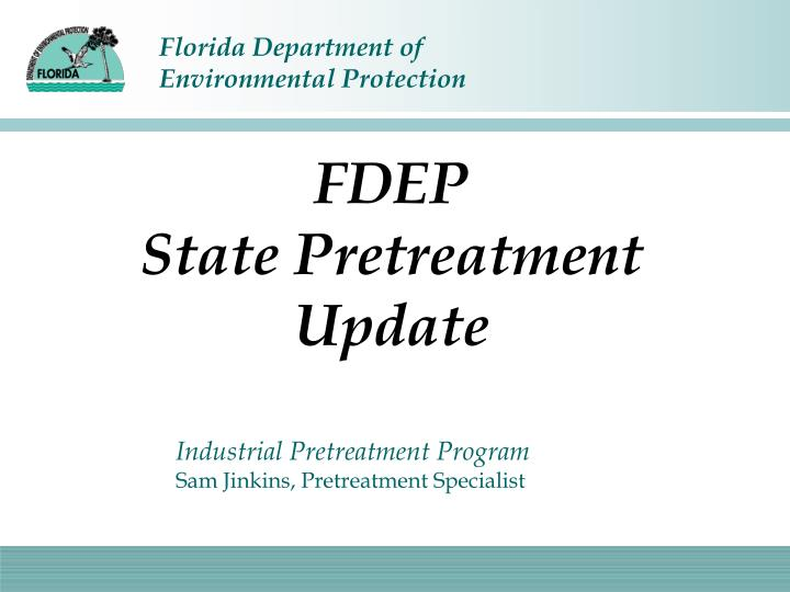 fdep state pretreatment update n.
