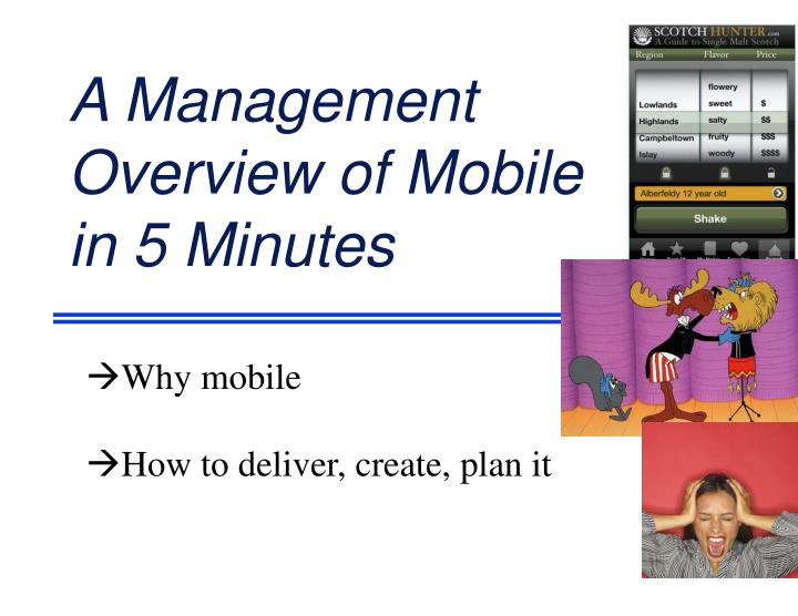 a management overview of mobile in 5 minutes n.