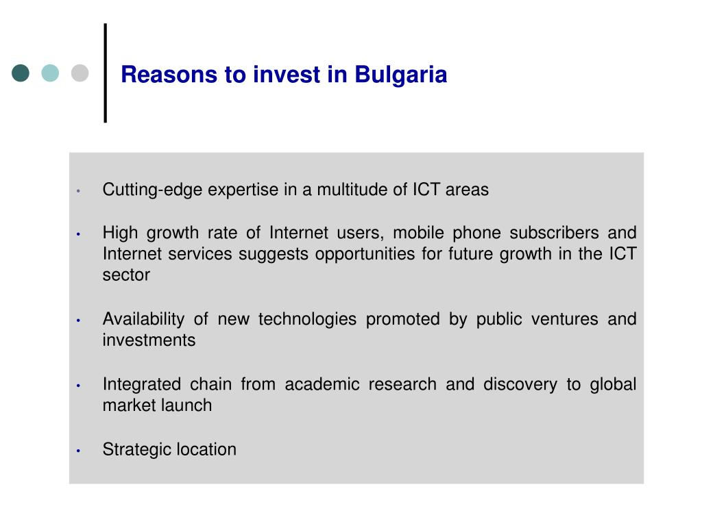 Reasons to invest in Bulgaria