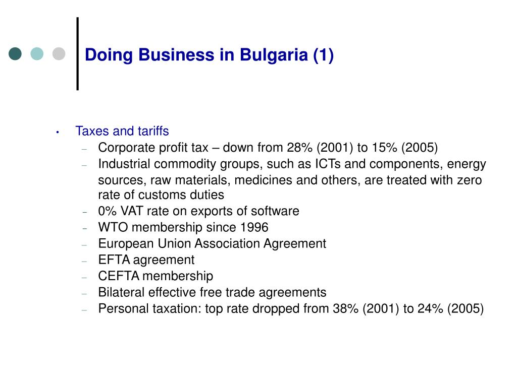 Doing Business in Bulgaria (1)