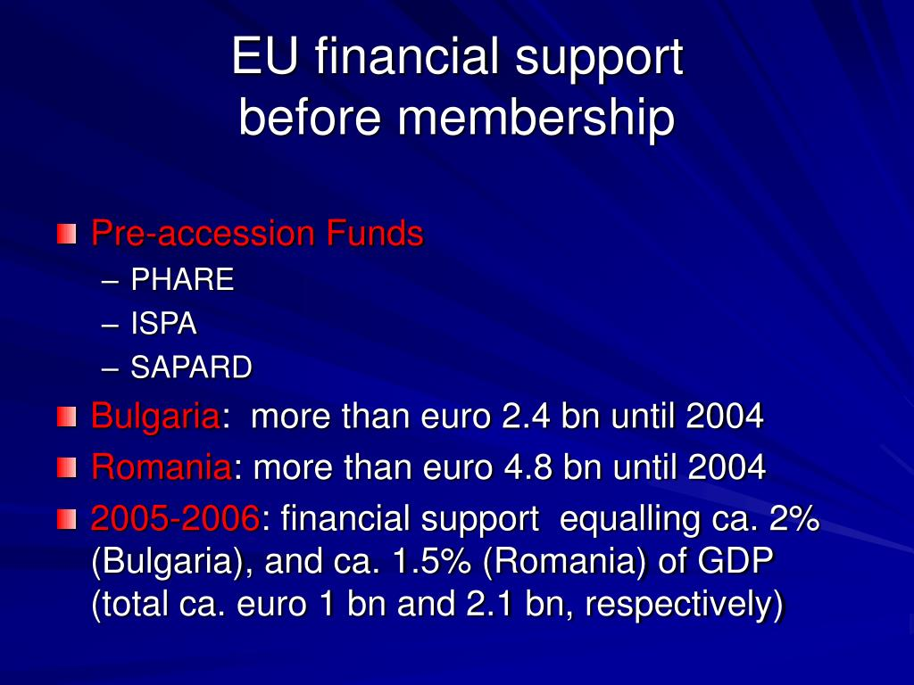 EU financial support