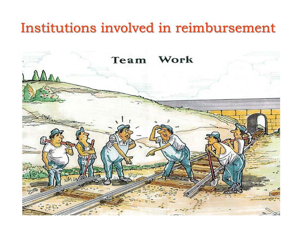 Institutions involved in reimbursement