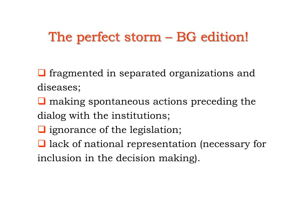 The perfect storm – BG edition!
