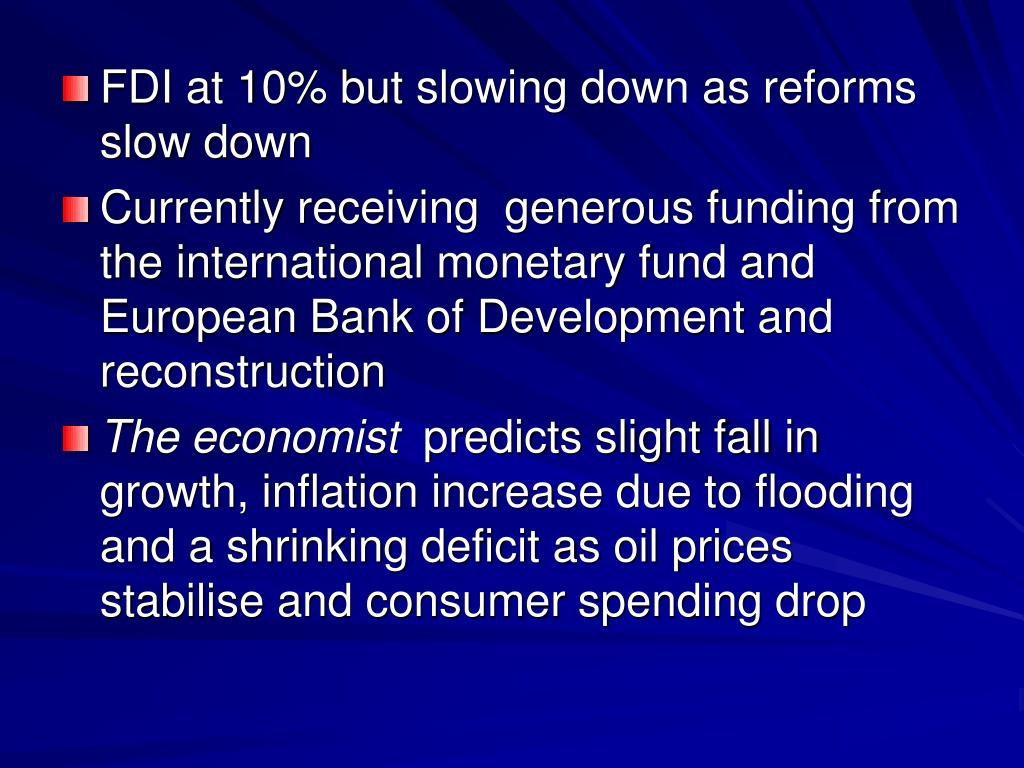 FDI at 10% but slowing down as reforms slow down