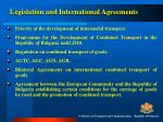 legislation and international agreements