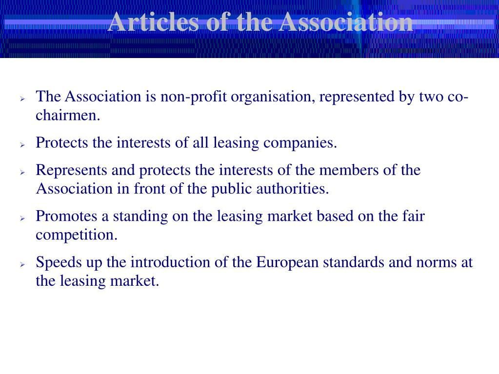 Articles of the Association