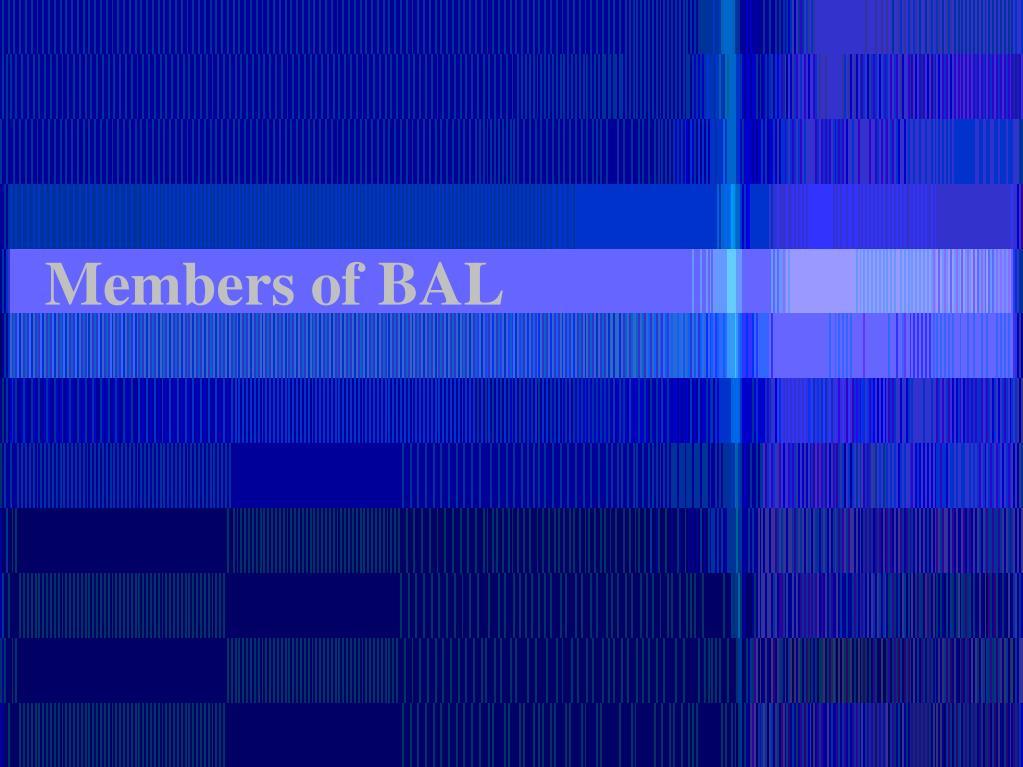 Members of BAL