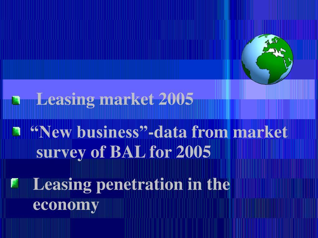 Leasing market 2005