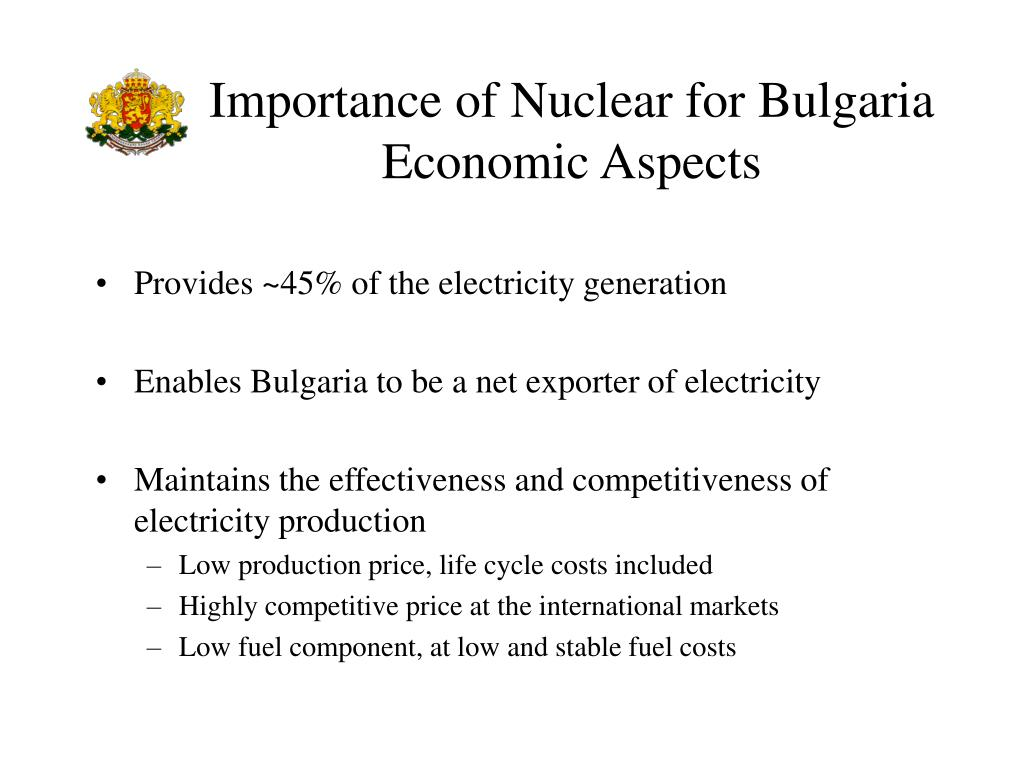 Importance of Nuclear for Bulgaria