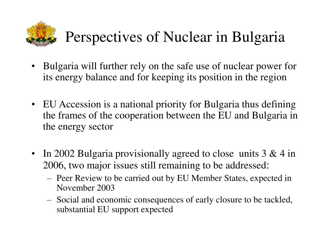 Perspectives of Nuclear in Bulgaria