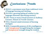 conclusions trends