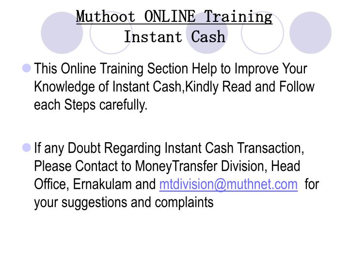 muthoot online training instant cash n.