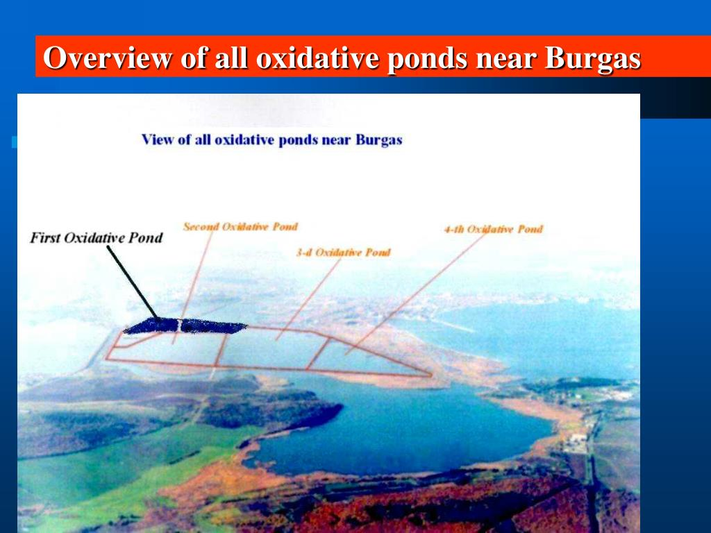 Overview of all oxidative ponds near Burgas