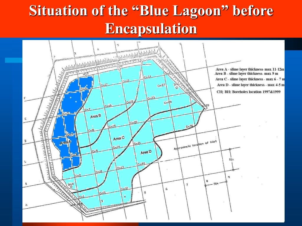 "Situation of the ""Blue Lagoon"" before Encapsulation"
