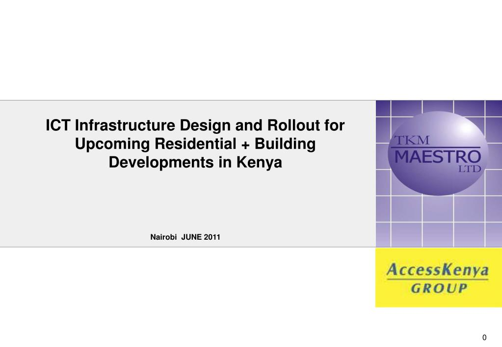 Ppt Ict Infrastructure Design And Rollout For Upcoming Residential