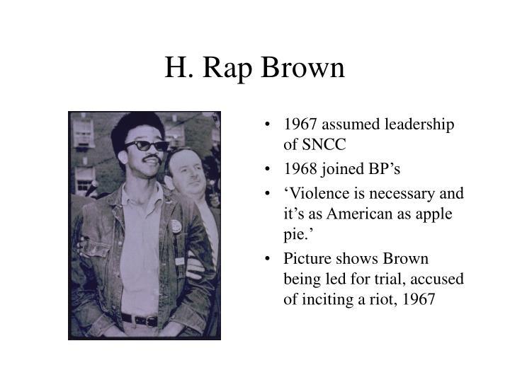 H. Rap Brown