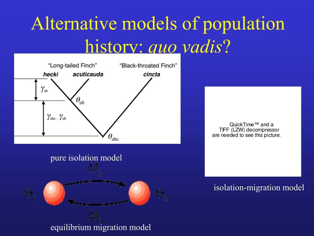 Alternative models of population history: