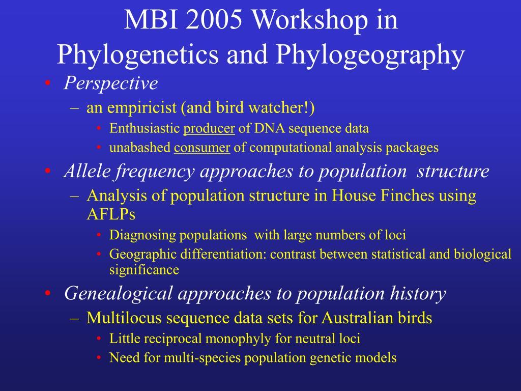 MBI 2005 Workshop in
