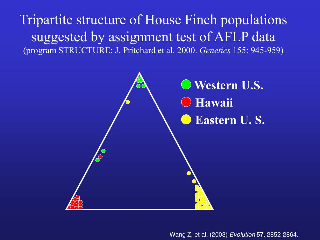 Tripartite structure of House Finch populations