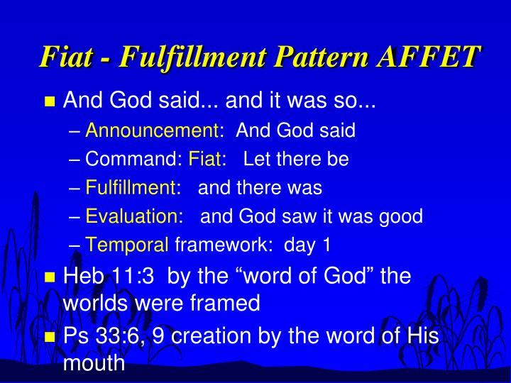 Fiat - Fulfillment Pattern AFFET