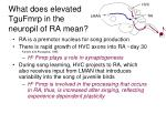what does elevated tgufmrp in the neuropil of ra mean