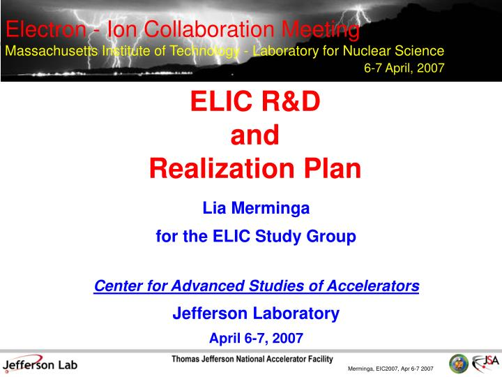 elic r d and realization plan n.