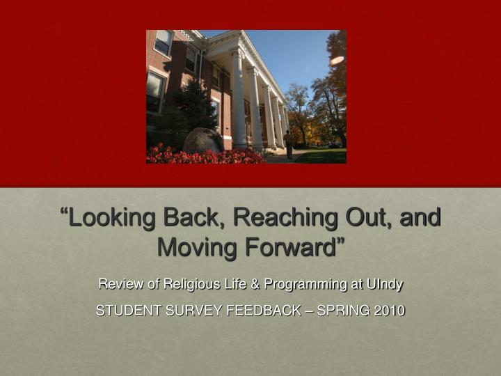 looking back reaching out and moving forward n.