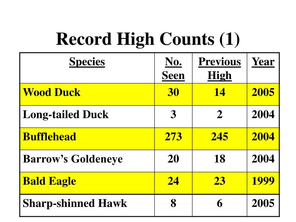 Record High Counts (1)