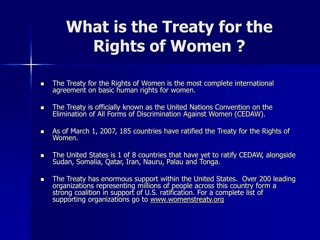 What is the Treaty for the Rights of Women ?