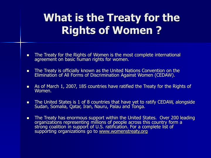 What is the treaty for the rights of women