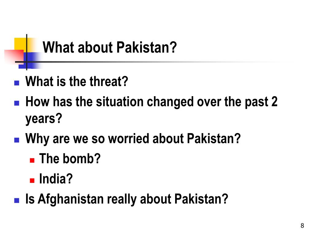 What about Pakistan?