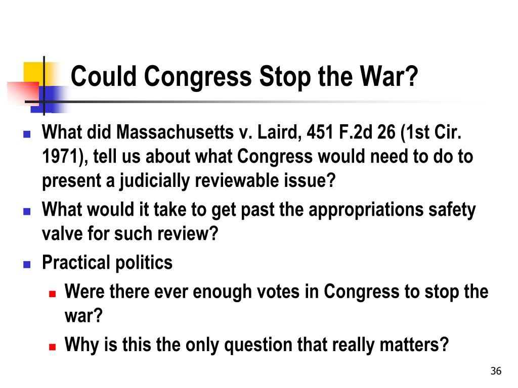 Could Congress Stop the War?