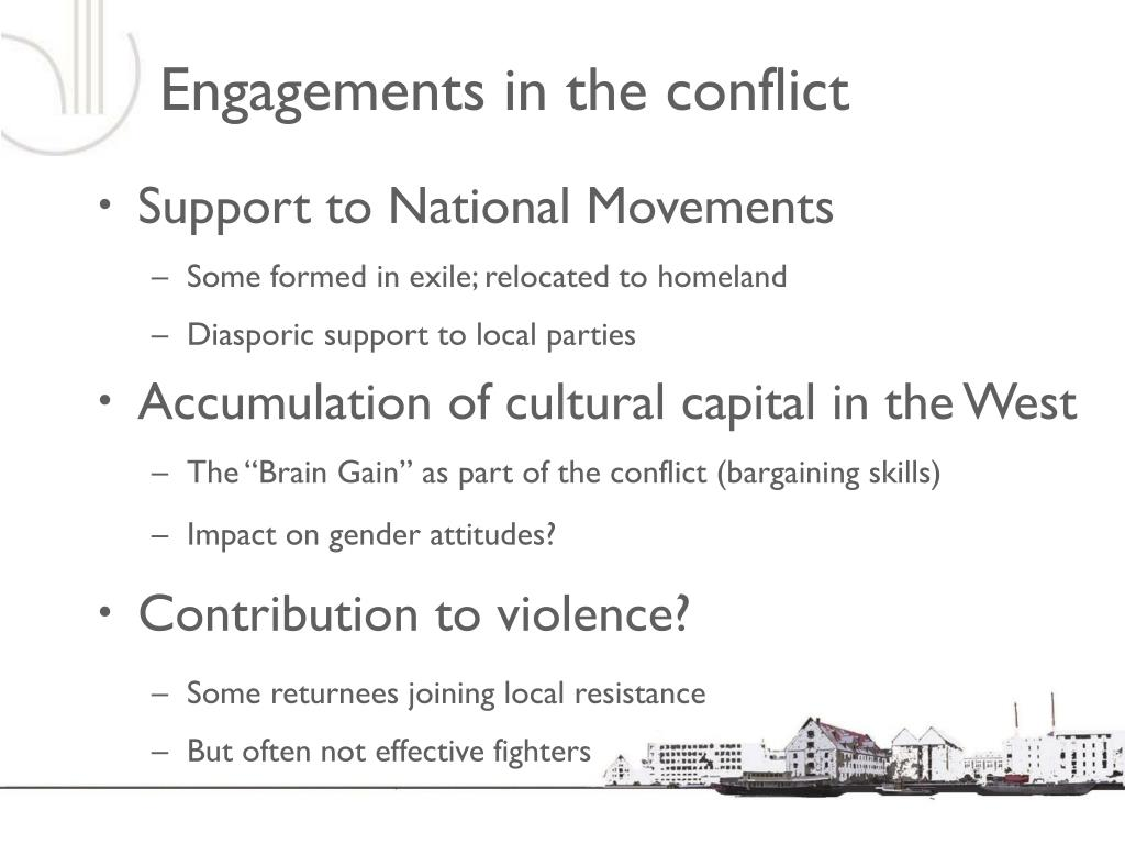 Engagements in the conflict