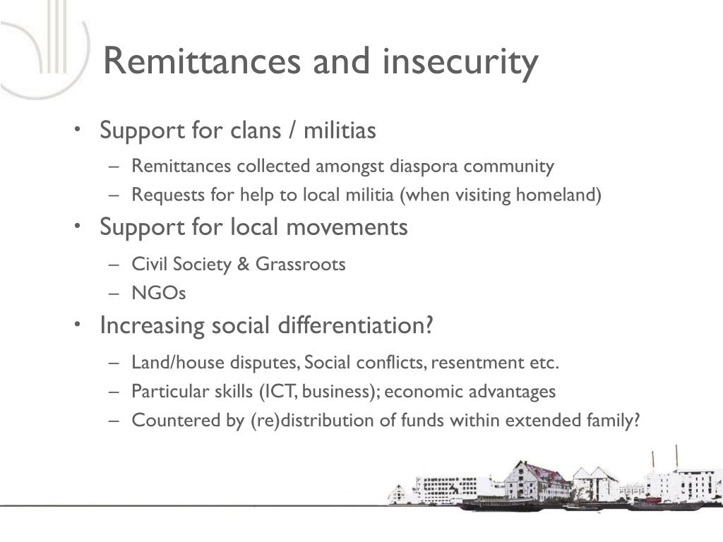 Remittances and insecurity