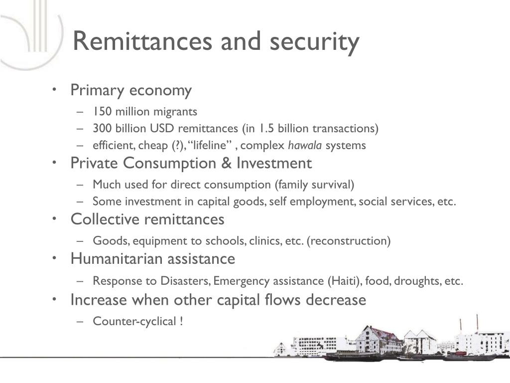 Remittances and security