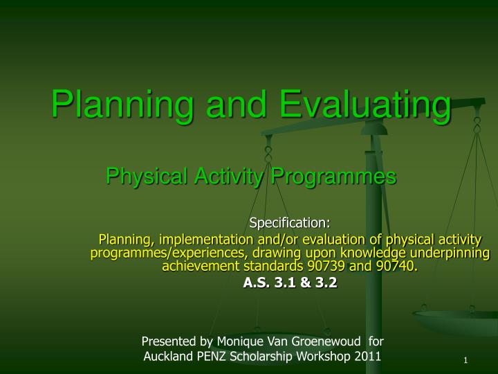 planning and evaluating physical activity programmes n.