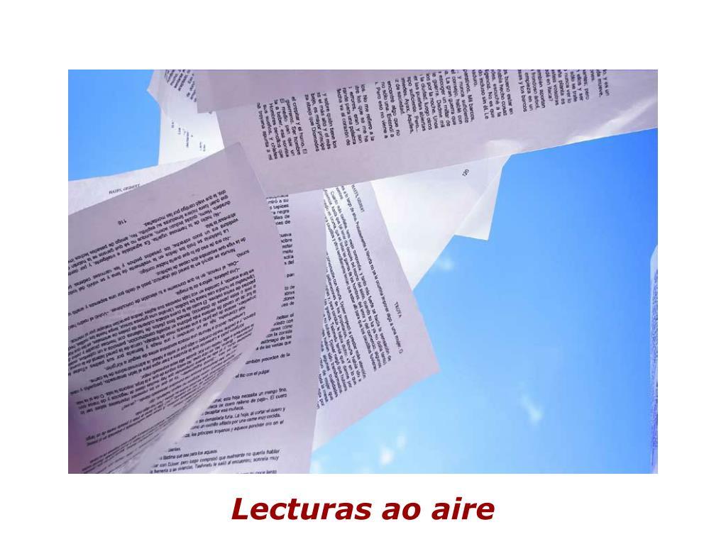 Lecturas ao aire