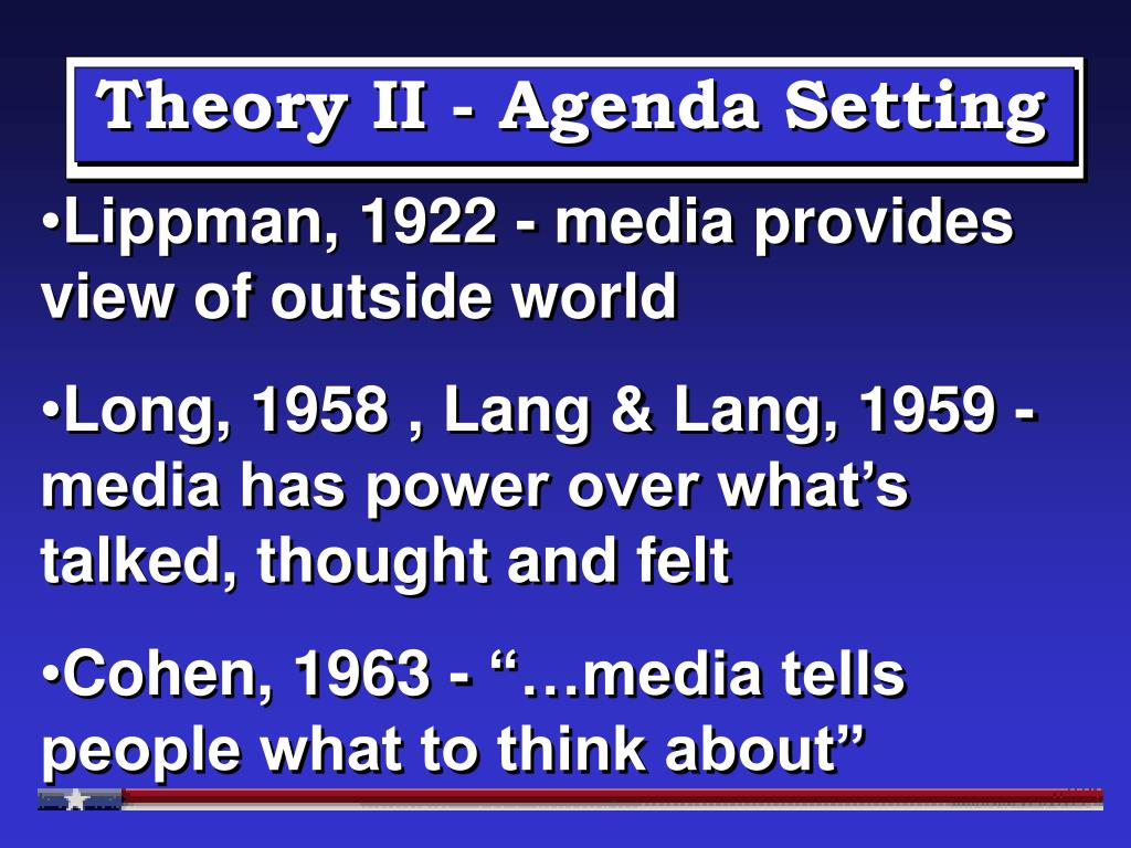 Theory II - Agenda Setting