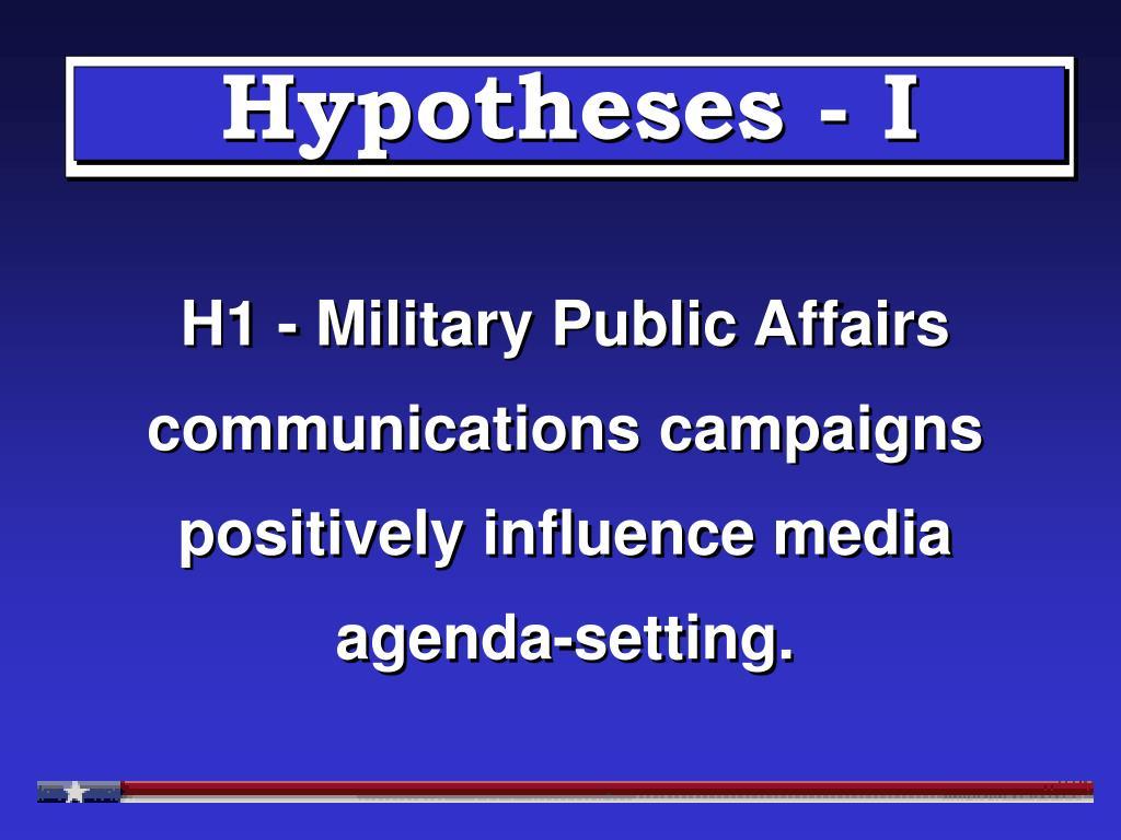 Hypotheses - I