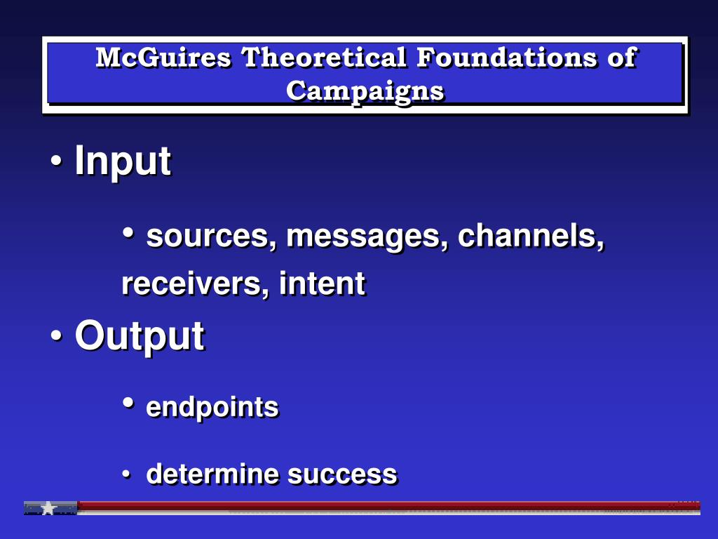 McGuires Theoretical Foundations of Campaigns