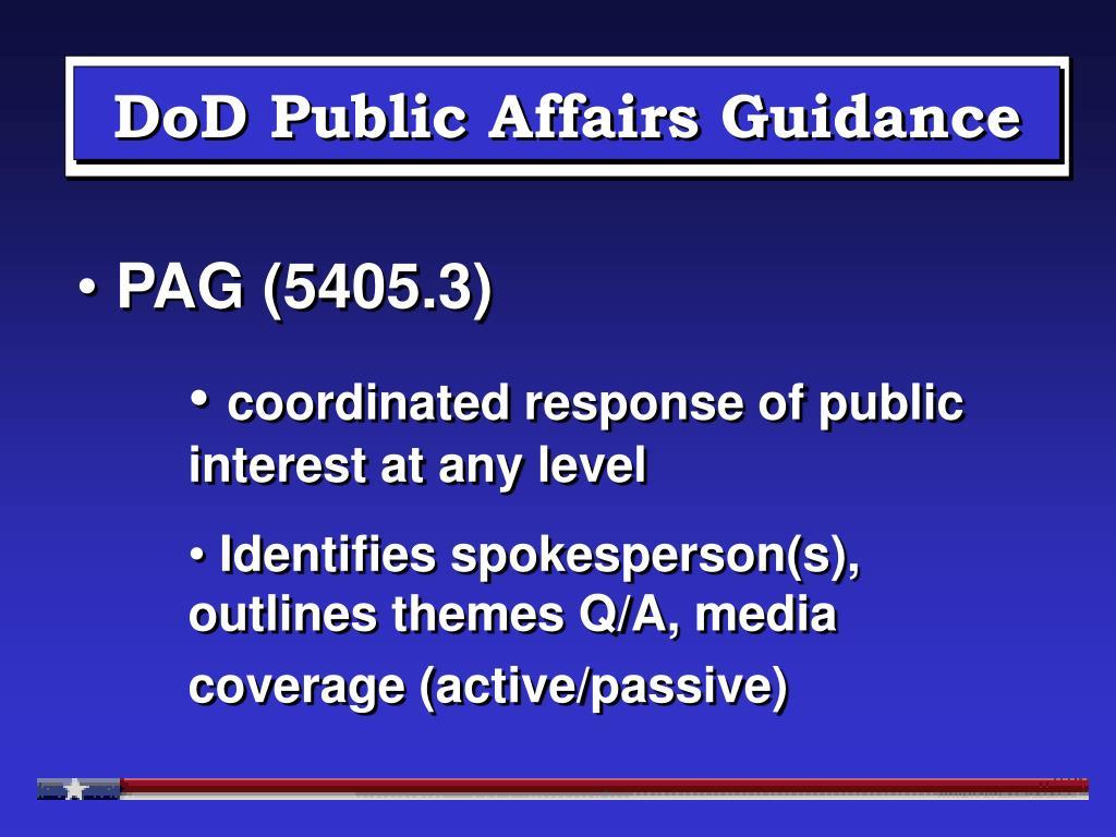 DoD Public Affairs Guidance