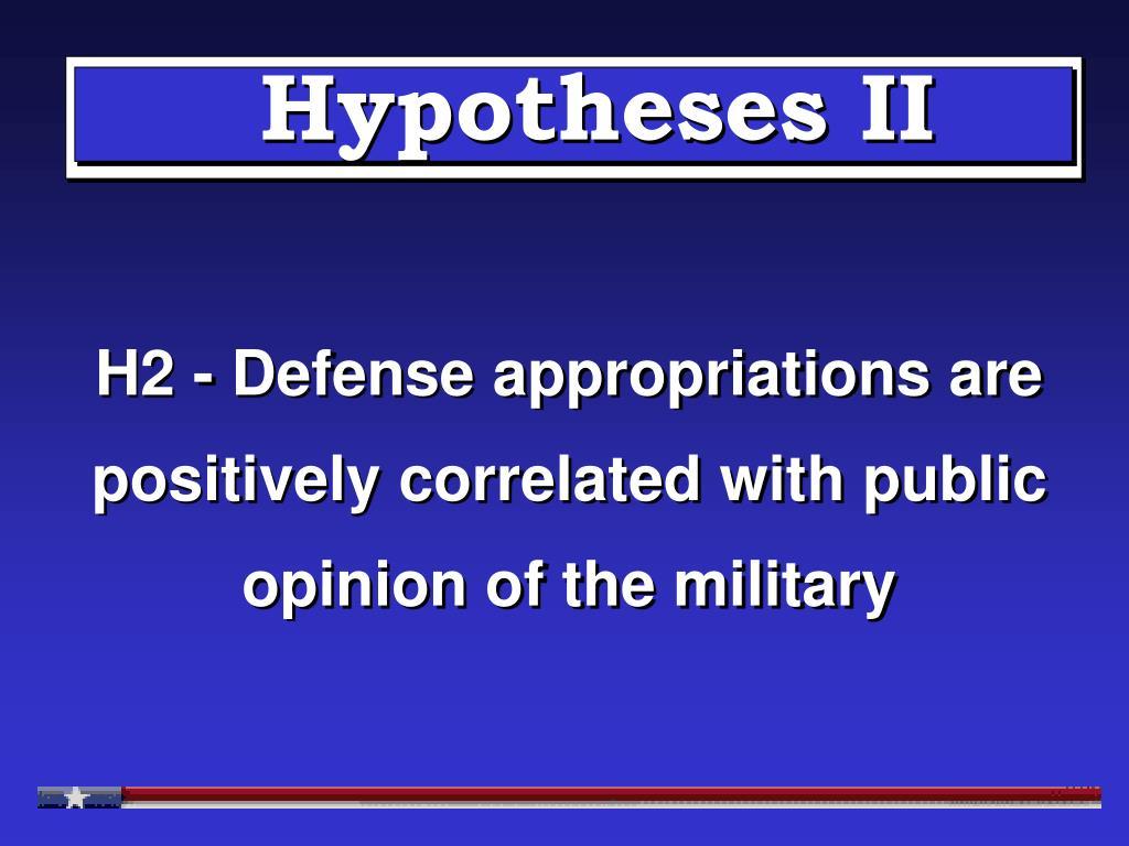 Hypotheses II