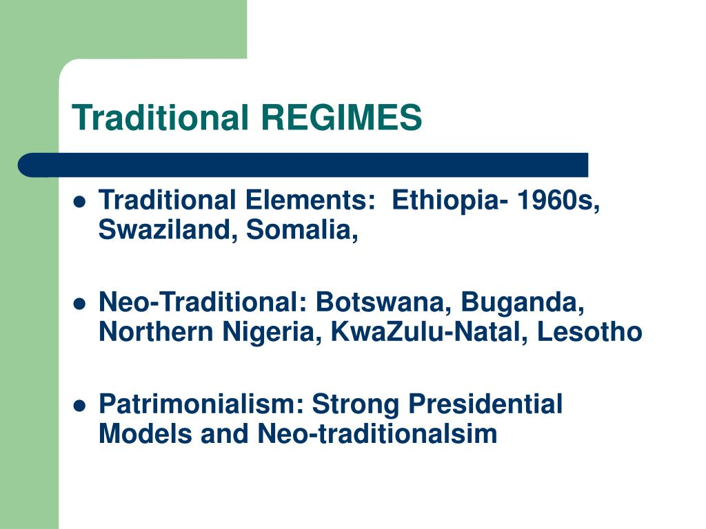 Traditional REGIMES