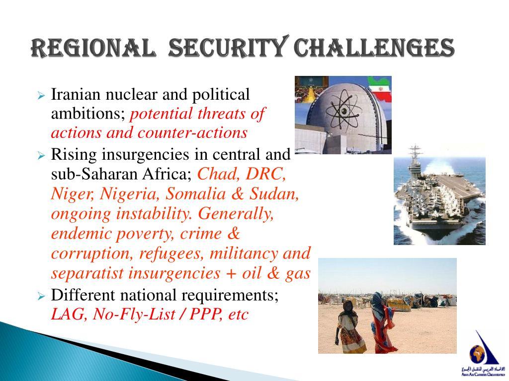 Regional  Security Challenges